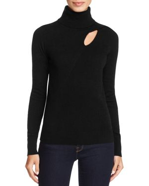 C by Bloomingdale's Cashmere Cutout Turtleneck Sweater - 100% Exclusive