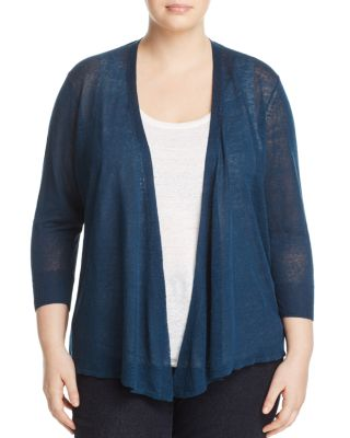 NIC AND ZOE PLUS Four-Way Convertible Cardigan in Baltic