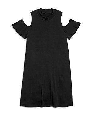 Aqua Girls' Cold Shoulder Shift Dress, Big Kid - 100% Exclusive