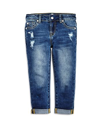 7 For All Mankind - Girls' Josefina Distressed Boyfriend Jeans - Little Kid