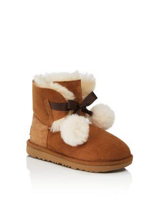 a097af553c5 UGG® Girls' Gita Pom-Pom Boots - Walker, Toddler   Bloomingdale's