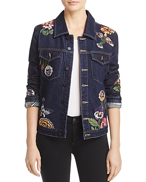 Blanknyc Embroidered Denim Jacket