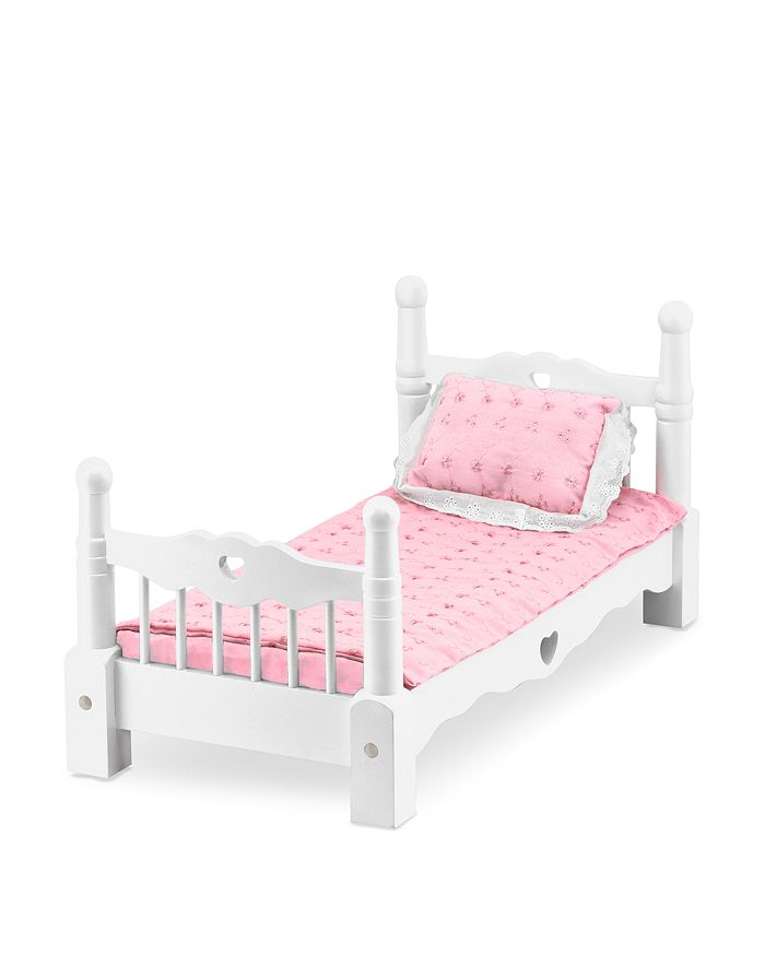 Melissa & Doug - Wooden Doll Bed - Ages 3+