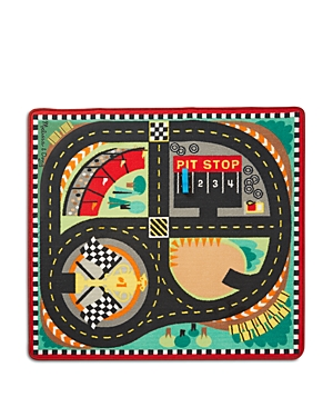 Melissa & Doug Race Car Rug Set - Ages 3+