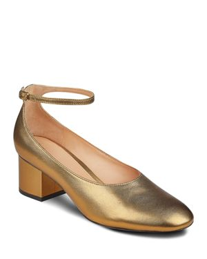 Sigerson Morrison Kairos Metallic Leather Mary Jane Pumps