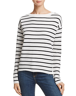 Aqua Cashmere Stripe High/Low Sweater - 100% Exclusive