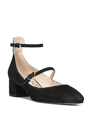 Sam Edelman Lulie Suede Ankle Strap Mary Jane Pumps