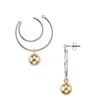 Argento Vivo Two-Tone Double Hoop Earrings