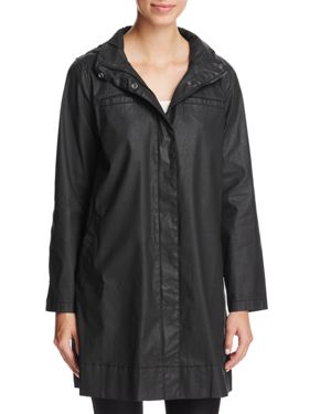 Eileen Fisher Waxed A-Line Jacket
