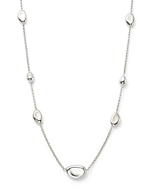 Sterling Silver Pebble Station Necklace, 18 - 100% Exclusive