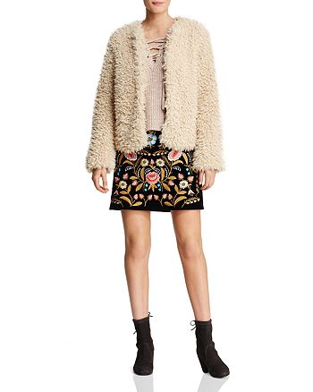 Lucy Paris - Embroidered Mini Skirt - 100% Exclusive, Beltaine Faux Fur Jacket & More