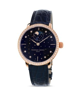 FREDERIQUE CONSTANT MANUFACTURE SLIMLINE MOONPHASE WATCH WITH DIAMONDS, 39MM