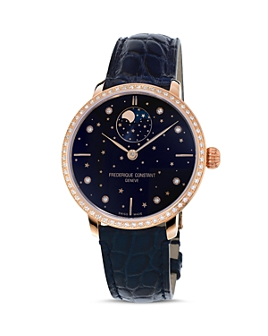 Frederique Constant Manufacture Slimline Moonphase Watch with Diamonds