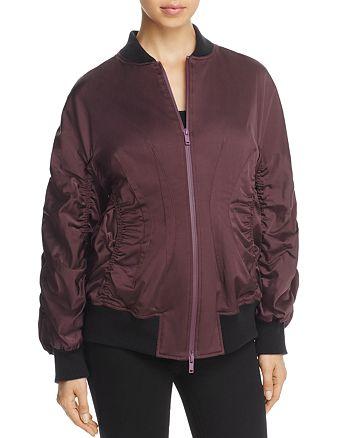 Donna Karan - Ruched Bomber Jacket