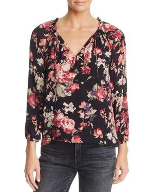 Joie Nadege Floral-Print Silk Top