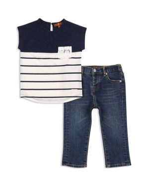 7 For All Mankind Girls' Color-Block Tee & Jeans Set - Baby 2619631