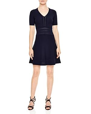 Sandro Betsy Open-Knit Detail Dress