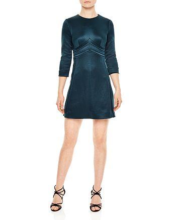 Sandro - Mabel Chevron Mini Dress