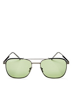 Salvatore Ferragamo - Men's Brow Bar Square Sunglasses, 56mm