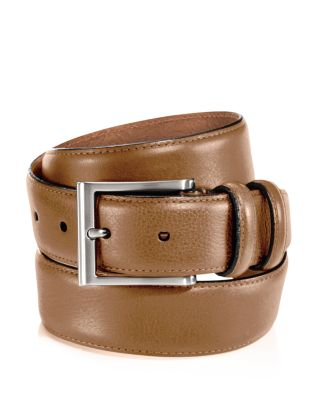 TRAFALGAR Corvino Double-Keeper Leather Belt in Dark Brown
