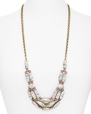 Sorrelli Pink Peony Stone Bib Necklace, 18-28 2654370