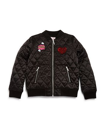 Design History - Girls' Quilted Patch Bomber Jacket - Big Kid