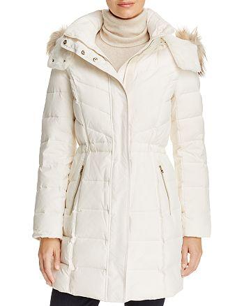 Cole Haan - Faux Fur Trim Down Coat