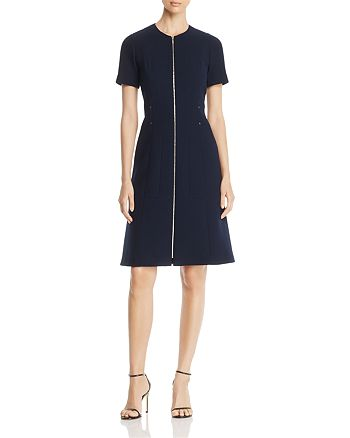 Lafayette 148 New York - Sonya Zip-Front Sheath Dress