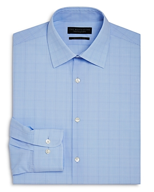 The Men's Store at Bloomingdale's Blue Glen Plaid Regular Fit Dress Shirt - 100% Exclusive