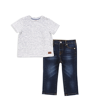 7 For All Mankind Boys Striped Tee  Jeans Set  Little Kid