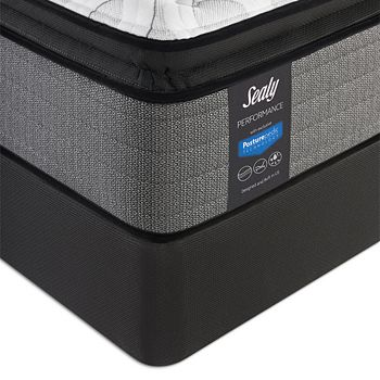 Sealy Posturepedic - Surprise Cushion Firm Euro Pillow Top Twin XL Mattress & Box Spring Set