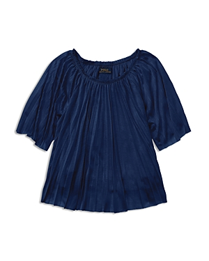 Ralph Lauren Childrenswear Girls Pleated Top  Big Kid