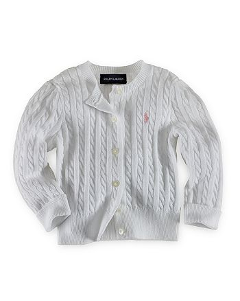 1ef4a54461a5d Ralph Lauren Girls' Cable Cardigan Sweater - Big Kid | Bloomingdale's