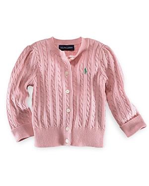 Ralph Lauren Childrenswear Girls Cable Cardigan Sweater  Baby
