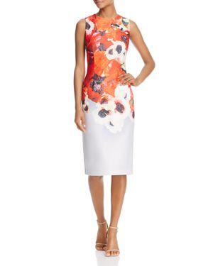 Adrianna Papell Floral Print Midi Dress