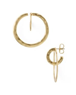 Robert Lee Morris Soho Hammered Double Hoop Earrings