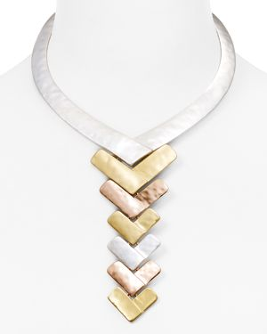 Robert Lee Morris Soho Tri-Tone Y-Necklace, 15