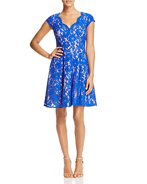 Eliza J Lace Fit-and-Flare Dress