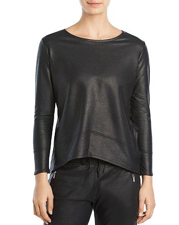 2(X)IST - Glazed Terry Cutout Top