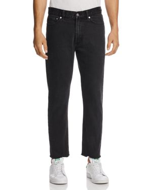 Obey New Threat Cropped Straight Fit Jeans in Dusty Black - 100% Exclusive