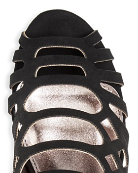 STEVE MADDEN - Girls' Jslithr Caged Wedge Sandals - Little Kid, Big Kid