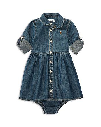 058a8ddf0 Ralph Lauren Girls  Denim Shirtdress   Bloomers Set - Baby ...