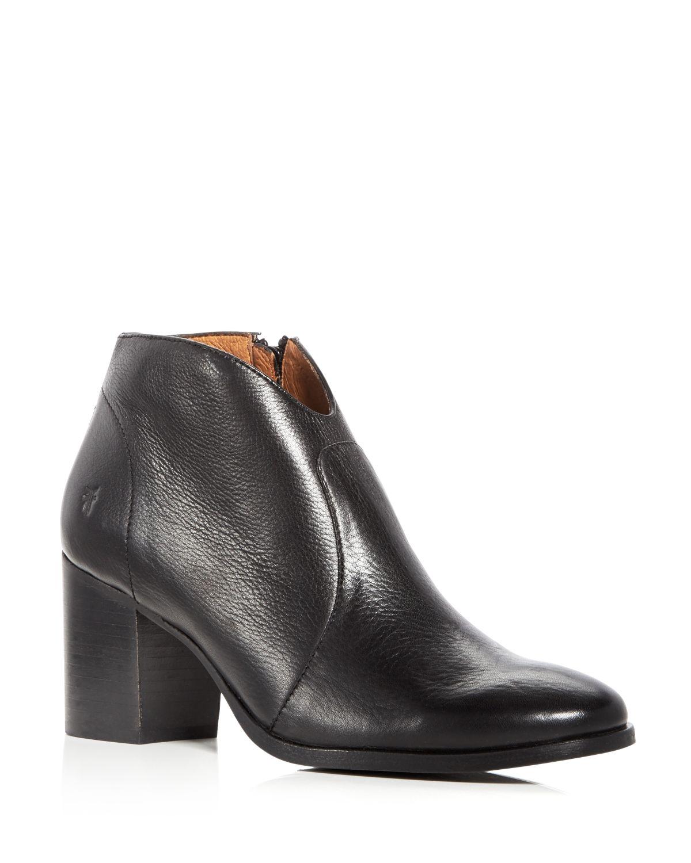 Frye Women's Nora Leather Block Heel Booties