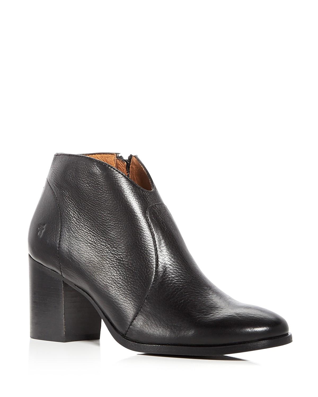 Frye Women's Nora Leather Block Heel Booties NdFVYE