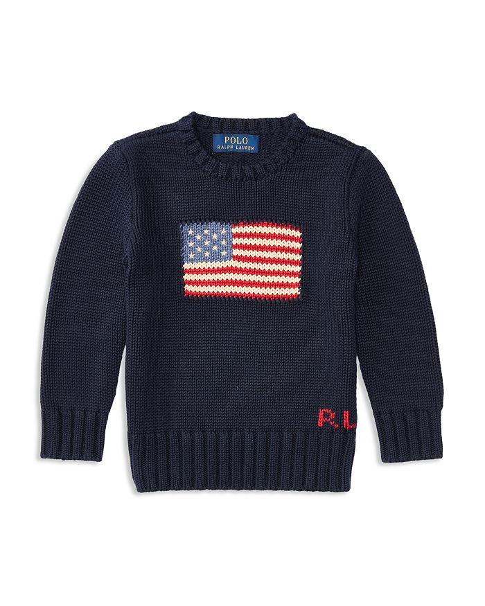 Ralph Lauren - Boys' American Flag Sweater - Little Kid, Big Kid