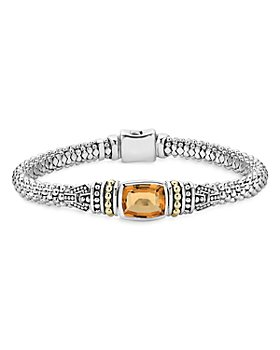 LAGOS - 18K Gold and Sterling Silver Caviar Color Gemstone Bracelets