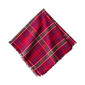 Juliska Tartan Plaid Red Napkin