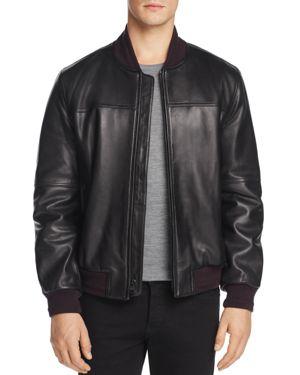 Marc New York Summit Leather Bomber Jacket