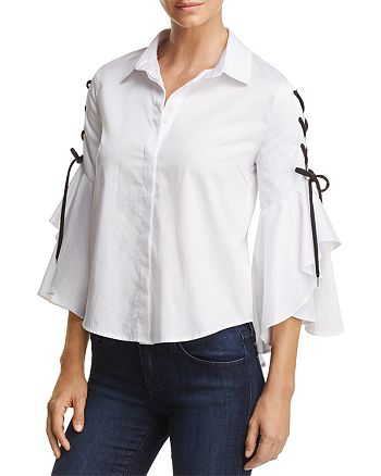 Do and Be - Lace-Up Bell Sleeve Shirt
