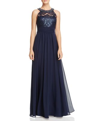 LACE BODICE GOWN